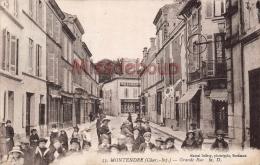 17 - MONTENDRE - Grande Rue     - 2 Scans - Montendre