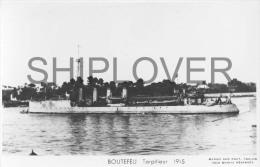 Torpilleur BOUTEFEU (Marine Nationale) - Carte Photo éd. Marius Bar - Photo/bateau/schiff - Guerra