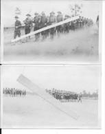 Défilé Entrainement Des Troupes Américaines Chapeaux Us 2 Photos Américaines 1914-1918 14-18 Ww1 WwI Wk - War, Military