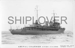 Aviso AMIRAL CHARNER (Marine Nationale) - Carte Photo éd. Marius Bar - Photo/bateau/schiff - Guerre