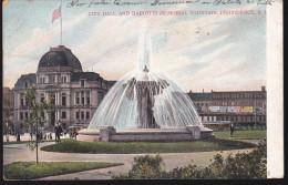 CPA - (Etats Unis) City Hall And Bajnotti Memorial Fountain Providence RI - Providence