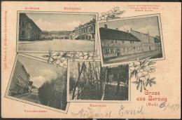 """Berlin   2-Farbige AK   """"Gruss Aus Bernau (Mark)""""   Jahr: 1898   Gebraucht - Germany"""