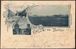 """Berlin   2-Farbige AK   """"Gruss Aus Bernau""""   Jahr: 1897   Gebraucht - Germany"""