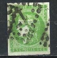 """YT 42B """" Bordeaux Cérès 5c. Vert-jaune """" 1871 Losange GC - 1870 Bordeaux Printing"""
