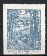 Reklamemarke Pisku, Jub. Krakinska Vystava 1912, Ortsansicht - Cinderellas