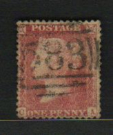 Great Britain   QV  1d  Red  OA  Perforated   #  57261 - 1840-1901 (Victoria)