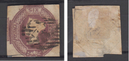 Great Britain   QV   1 Shilling  Embossed    #  83739 - 1840-1901 (Victoria)