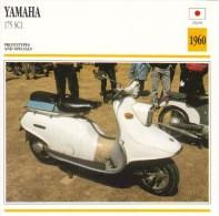 Yamaha 175 SC1 Scooter Prototype  - 1960  -  Fiche Technique Moto (Japan)  -   Carte De Collection - Picture Cards