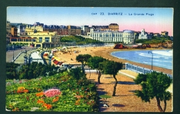 FRANCE  -  Biarritz  La Grande Piage  Used Postcard  Mailed To The UK  As Scans - Biarritz