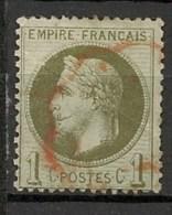 NAPOLEON III - 1863 - 1870 - 1 C.  - N° 25 - Dentelé - Oblitéré - - 1863-1870 Napoléon III Con Laureles