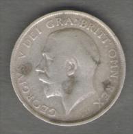GRAN BRETAGNA SHILLING 1916 GEORGIUS V AG SILVER - 1902-1971 : Monete Post-Vittoriane