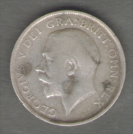 GRAN BRETAGNA SHILLING 1916 GEORGIUS V AG SILVER - I. 1 Shilling