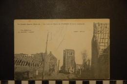 CP, Militaria, Guerre De 1914, 62, Les Restes De L'Eglise De Givenchy Bombardée - Oorlog 1914-18