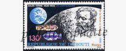 -Djibouti 524**Ecrivains,Jules Verne - Dschibuti (1977-...)
