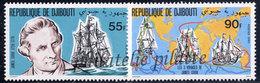 -Djibouti 525/26**Bateaux,Cook - Djibouti (1977-...)
