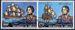 -Djibouti 537/38**Bateaux - Djibouti (1977-...)