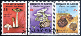 -Djibouti 630/32**Champignons - Dschibuti (1977-...)