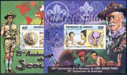 -Djibouti Bloc  43/44 (M) Obl** - Gibuti (1977-...)