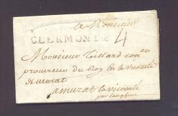 PUY DE DOME CLERMONT LAC Linéaire Lenain N° 7 Taxe 4 Daté Du 12 Septembre 1771 Pour Murat TB Ind 11 - 1701-1800: Precursors XVIII