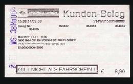 Ticket De Transport : VIENNE, Autriche, U-BAHN (Reseau Métropolitain) 5 Lignes, Metro, Wiener Linien - Subway