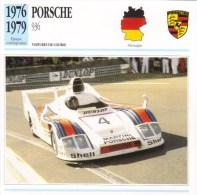 Fiche - Voitures De Course  Le Mans  -  Porsche 936  - 1977   -  Carte De Collection - Le Mans