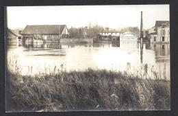 CPA 95 L'Isle Adam Carte Photo Innondations -Diard Photographe - L'Isle Adam