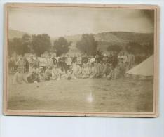 Bouches Du Rhône.Une Compagnie En Manoeuvre à Carpiagne En 1900 , Format 18 Cm X 13cm - Photos