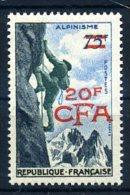TIMBRE REUNION / NEUF SANS CHARNIERE /  Y.330 ALPINISME  / SURCHARGE CFA - Réunion (1852-1975)
