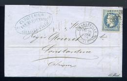 Lettre De Charleville Pour Constantine Algérie 1870 - Marcophilie (Lettres)
