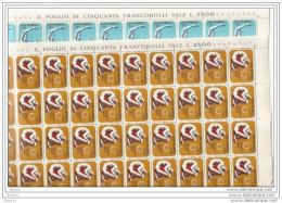 1972 San Marino Saint Marin ANNO DEL CUORE - YEAR OF HEART 50 Serie Di 2v.in Foglio MNH** - Nuovi
