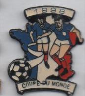 Football , Coupe Du Monde  , France 98 , Carte De France Tricolore - Calcio
