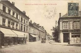 Depts Divers- Aube- Ref R 36- Romilly Sur Seine - Rue De La Boule D Or - Cafe De La Gare Et Du Marche - Societe Generale - Romilly-sur-Seine