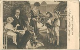 CPA - La Famille Royale De Belgique Au Parc De Lacken - 1920 - Familles Royales