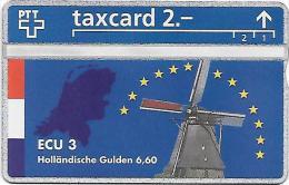 PTT: K-92/329B 329L ECU 3, Holl�ndische Gulden. mint