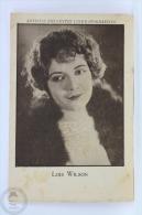 Old Trading Card/ Chromo Topic/ Theme Cinema/ Movie - Spanish Advertising - Actress: Lois Wilson - Otros