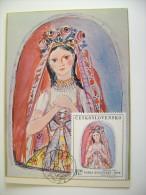 SVOLINSKY   CESKOSLOVENSKO  CECOSLOVACCHIA   CZECHOSLOVAKIA   MAXIMUM     COVER  PREMIER JOUR  FDC FIRST DAY - Malerei & Gemälde