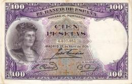 BILLETE DE ESPAÑA DE 100 PTAS DEL AÑO 1931 BC+ SIN SERIE  (BANKNOTE) - [ 2] 1931-1936 : Repubblica