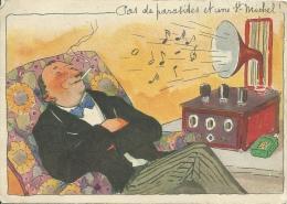 Carte Publicitaire - Cigarettes St MICHEL - Pas De Parasites Et Une St Michel... ( Voir Verso ) - Advertising