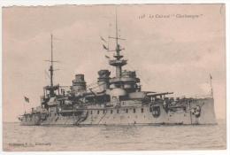 """158  - Le Cuirassé  """" Charlemagne """"   , Neuve , Bord Supérieur Avec Petit Défaut - Warships"""