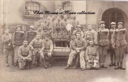 CPA CARTE PHOTO MILITAIRE 1925 47 EME REGIMENT D ARTILLERIE PERE CENT CERCUEIL FUTIBUS RAPIDOS MULHOUSE PAR ALBIETZ 595 - Régiments