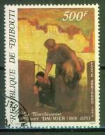 Honoré Daumier, Artiste - DJIBOUTI - Tableau: La Blanchisseuse - Djibouti (1977-...)