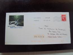 PAP cascade le saut de la Brame � Thiat (Haute Vienne )  timbre Beaujard