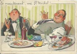 Carte Publicitaire - Cigarettes St MICHEL - Et Maintenant, Une St Michel... ( Voir Verso ) - Publicité