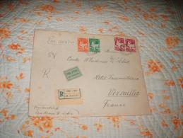 GRANDE ENVELOPPE UNIQUEMENT CIRCULEE DE 1938. / BULGARIE SOFIA A VERSAILLES / R N°000542 / CACHETS + TIMBRES. - 1909-45 Reino