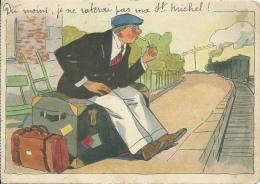 Carte Publicitaire - Cigarettes St MICHEL - Du Moins, Je Ne Raterai Pas Ma St Michel... ( Voir Verso ) - Publicité