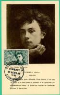 Charleville Mezieres -  Ardennes - Carte 1er Jour -Rimbaud - 27 Octobre 1951 - N° 66401 - Charleville
