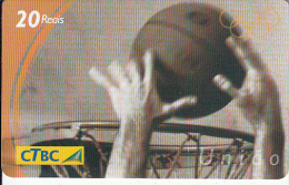 BRAZIL - Basketball, CTBC Prepaid Card 20 Reais, Used - Deportes
