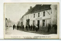 CPA 62  :  AUBIGNY EN ARTOIS  Café Legrand Animé  14-18   A   VOIR   !!! - Aubigny En Artois
