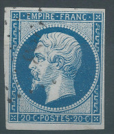 Lot N°26791    N°14A, Oblit  PC 1183 EPERNAY(49), Belles Marges - 1853-1860 Napoleone III