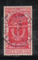 3RG862 - REGNO 1934 , 20 Cent N. 351 Usato . Fiume - Gebraucht